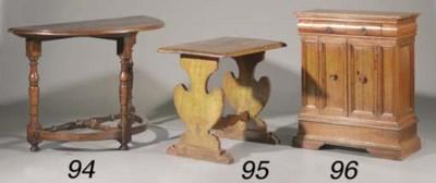 An Italian walnut side table