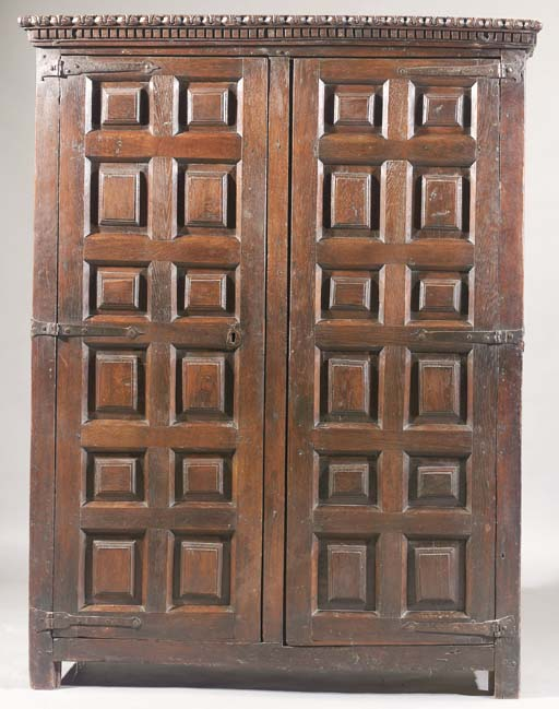 A Spanish oak armoire