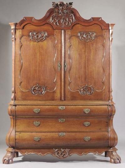 A Dutch oak cabinet
