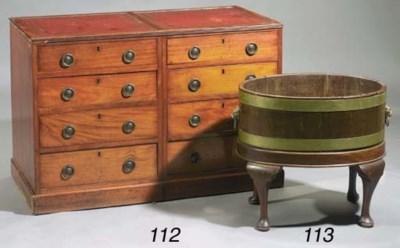 An English brass-mounted mahog