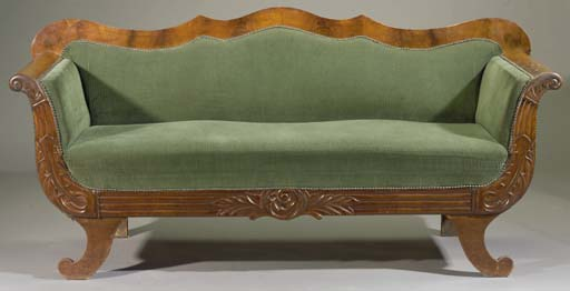 A Dutch mahogany canape