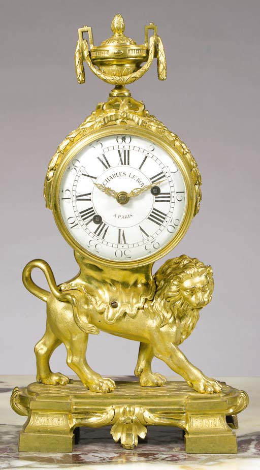 A French ormolu mantel clock a