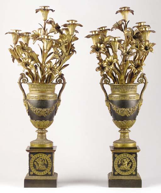 A pair of Restauration ormolu