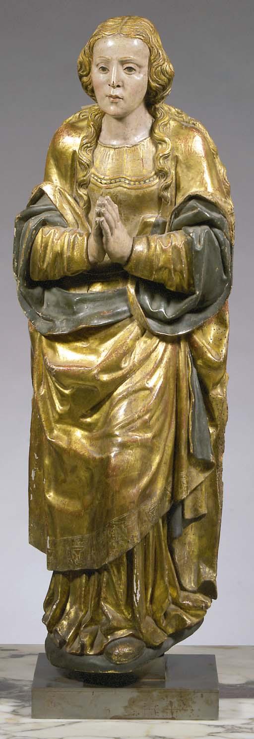 A parcel-gilt and polychrome c