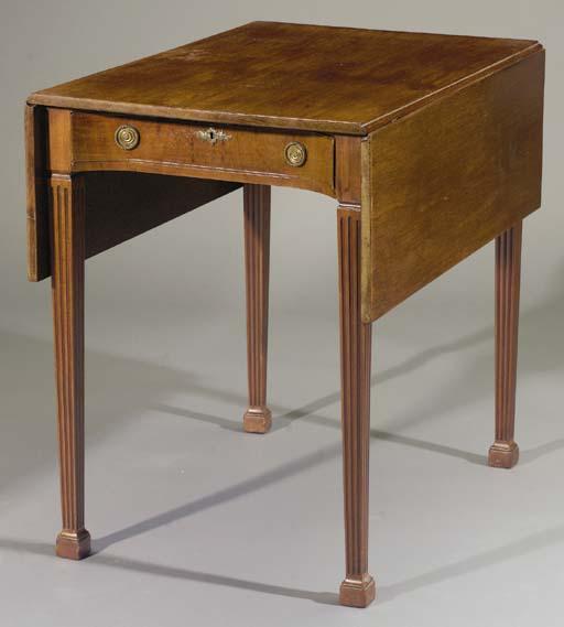 A Dutch mahogany sofa table
