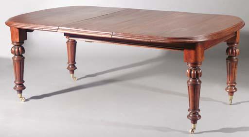 An English mahogany extending