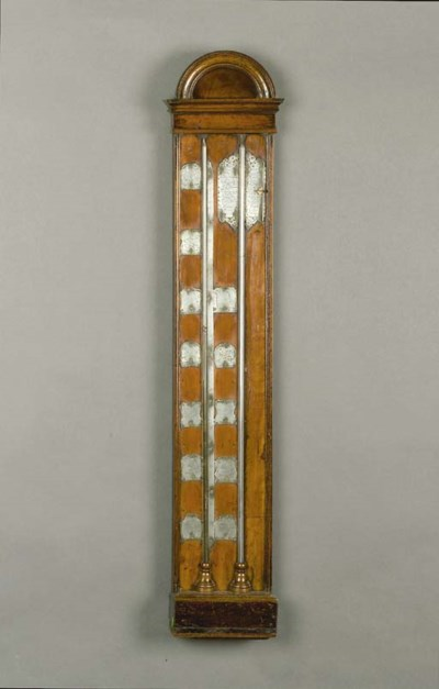 A Dutch silvered mahogany cist