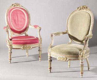 A Napoleon III parcel-gilt and