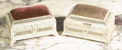 Two Russian carved and stained