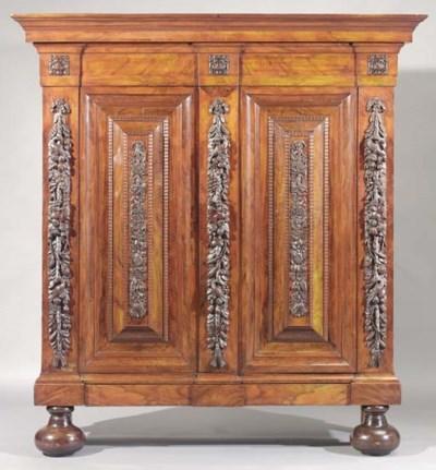 A Dutch rosewood cabinet
