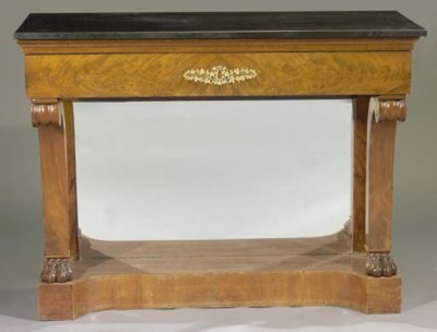 A Dutch ormolu-mounted mahogan
