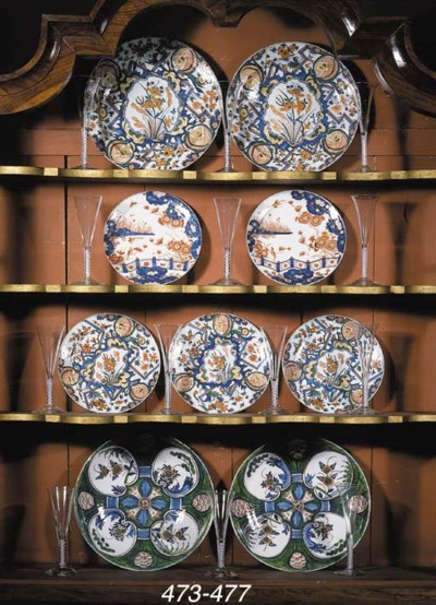 Three Dutch Delft chinoiserie