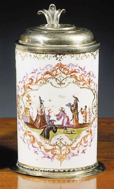 A Meissen chinoiserie silver-g