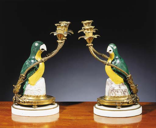 A pair of ormolu, Chinese fami