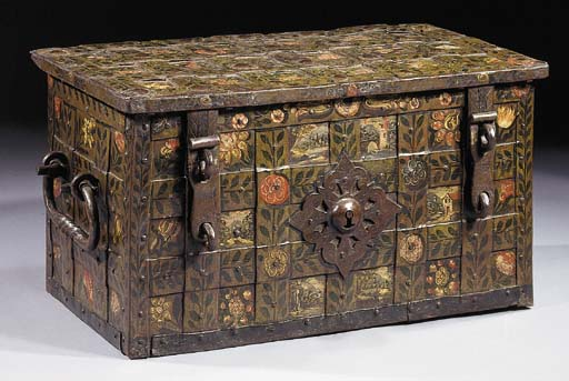 A German polychrome-decorated