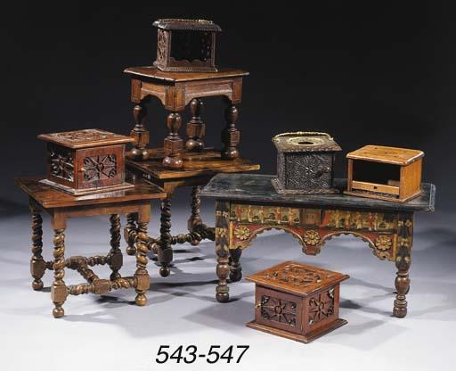 A Dutch oak stool