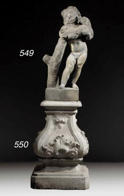 A Flemish sandstone figure of