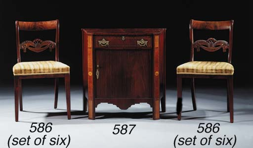 A set of six Dutch mahogany di