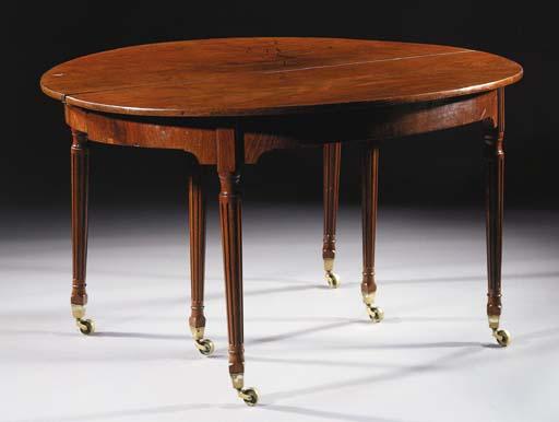 A Dutch mahogany extending dining-table