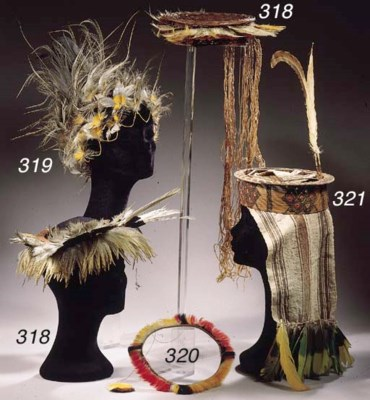 TWO GUYANA FEATHER HEADDRESSES