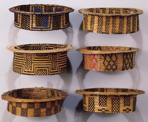 SIX AMUESHA CANE HATS