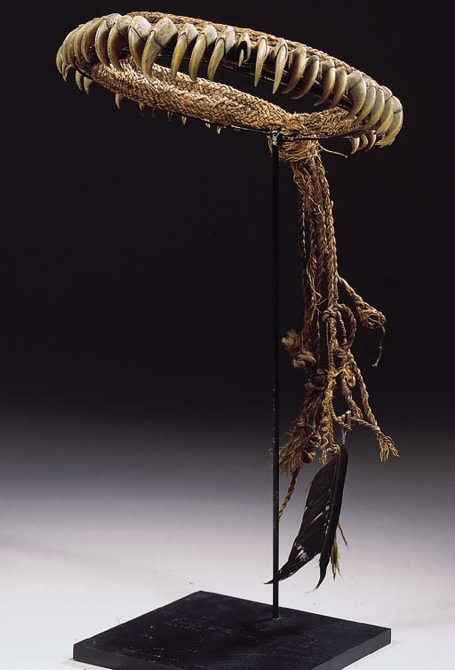 A RARE GUYANA CLAW HEADDRESS