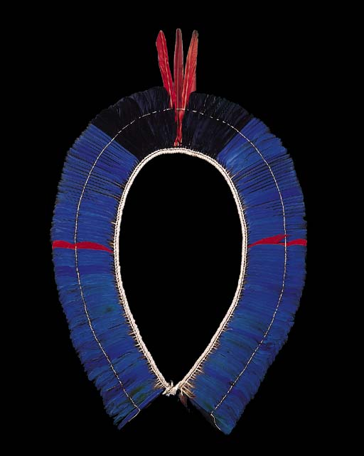 A KAYAPO FEATHER HEADDRESS