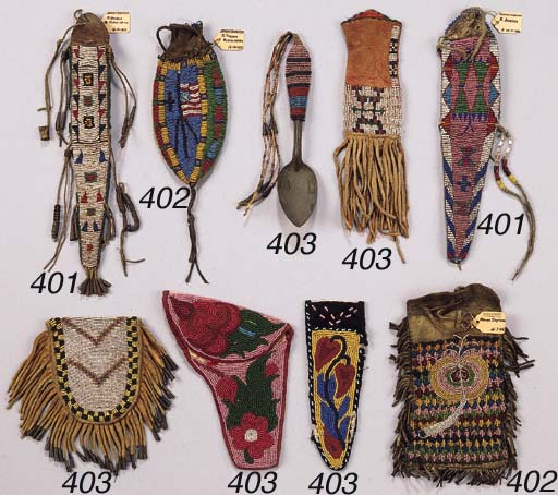 TWO PLAINS INDIAN POUCHES AND