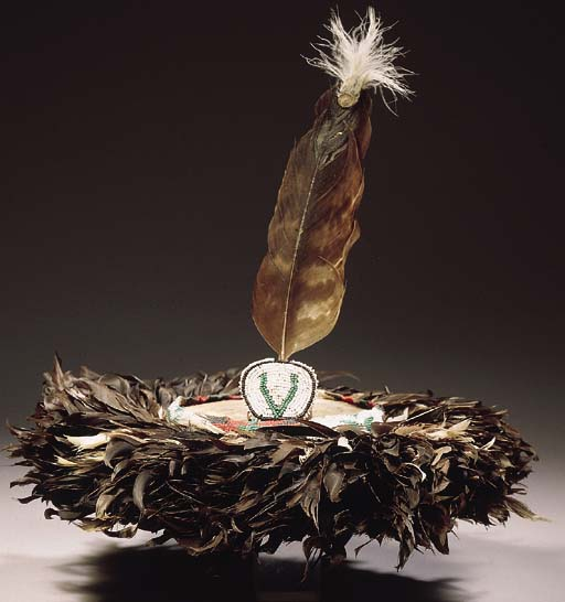 AN AMERICAN INDIAN FEATHER HEA