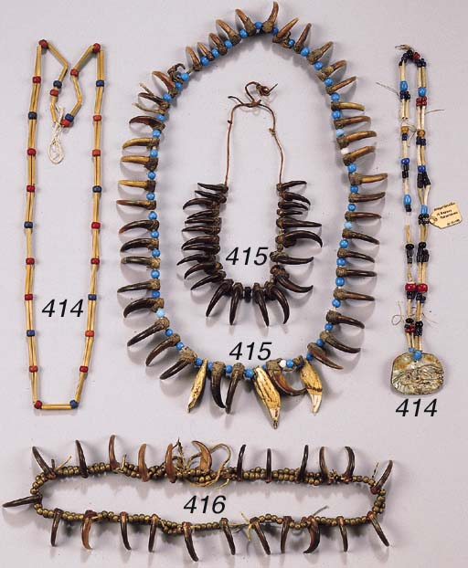 TWO PLAINS INDIAN NECKLACES