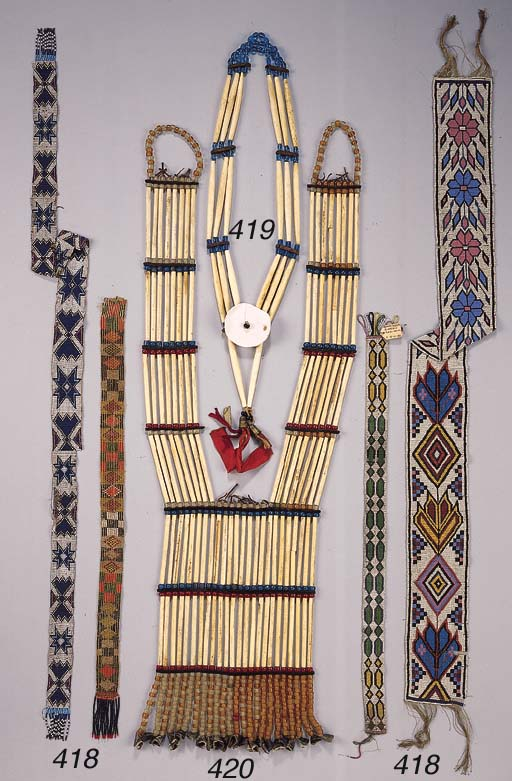 A PLAINS INDIAN PIPE BEAD NECK