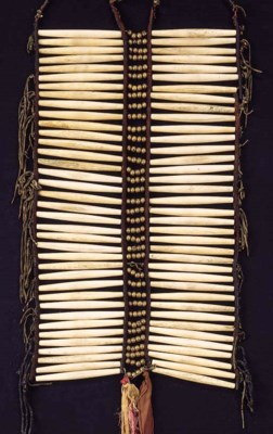 A SIOUX MAN'S PIPE BEAD FRONTL