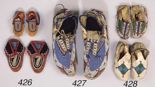 A PAIR OF WESTERN SIOUX BEADED