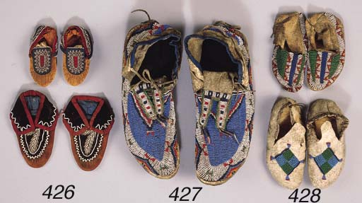 TWO PAIRS OF PLAINS INDIAN CHI