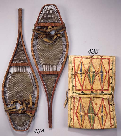 A PAIR OF ATHABASKAN SHOW SHOE