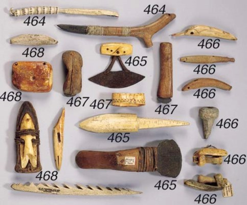 A THULE KNIFE AND AN INUIT NEE