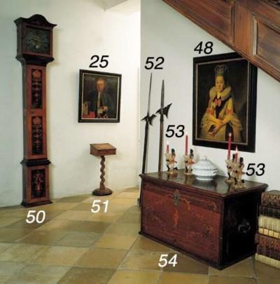 A set of four Venetian polychr