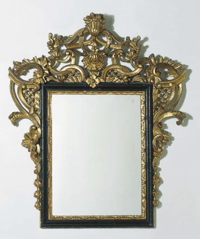 An Italian ebonised and gilt-g