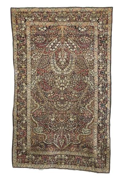A Kirman prayer rug