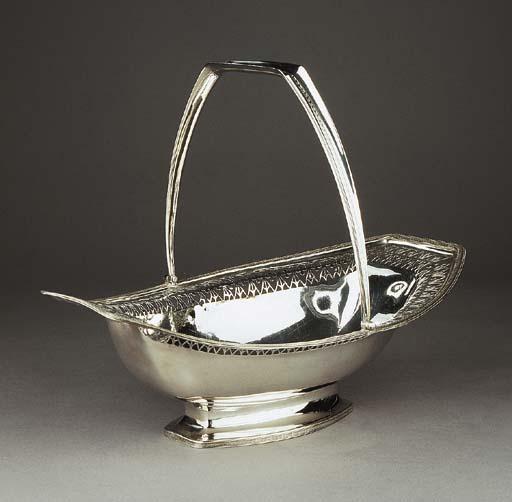 A Dutch silver cake basket