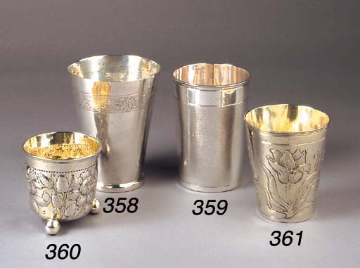 A German parcel-gilt cup