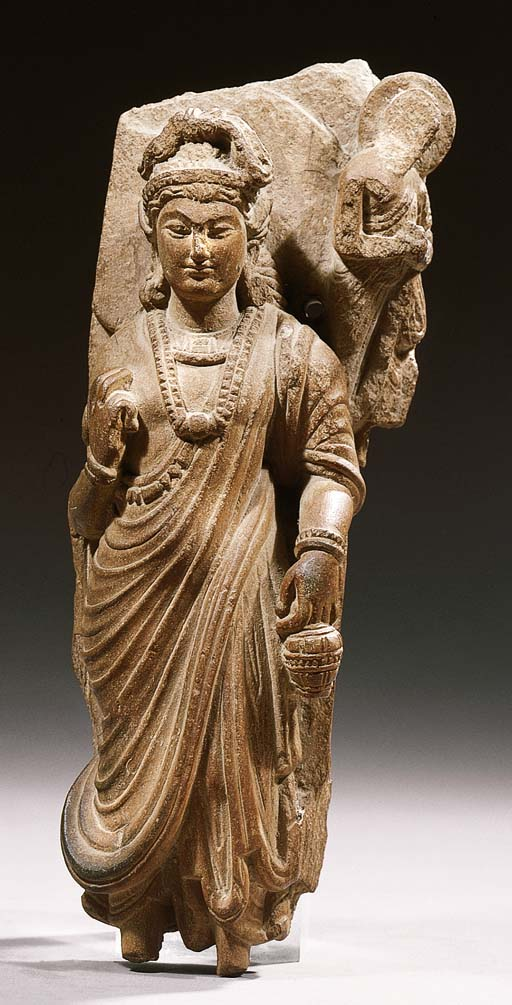 a fine gandhara schist figure