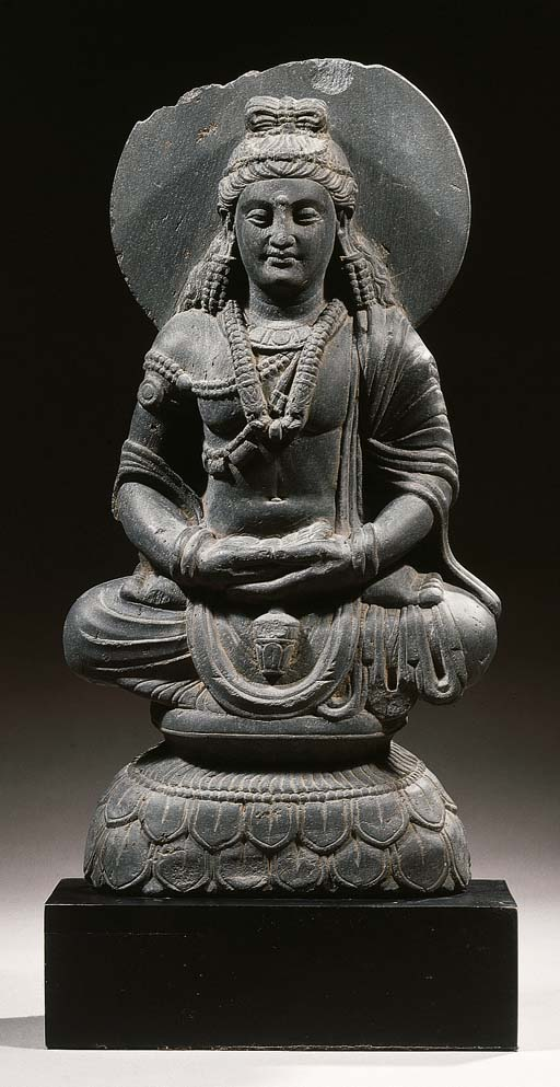 a gandhara schist figure of ma
