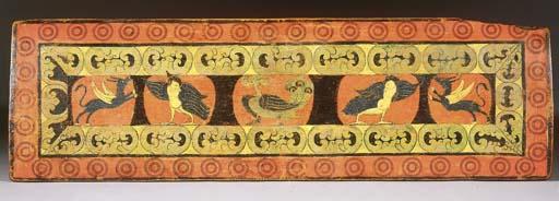 a tibetan polychrome wooden ma