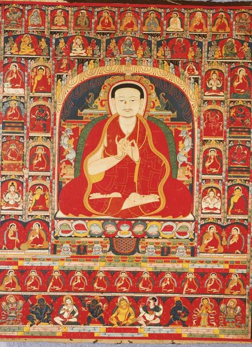 an important tibetan thang.ka