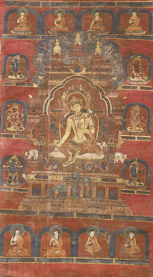 a sino tibetan thang.ka depict