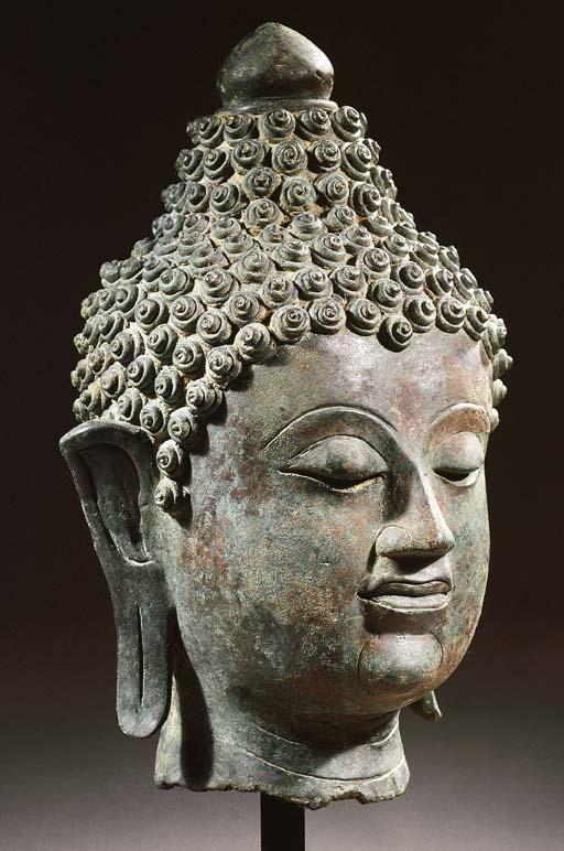 a thai, lanna style, bronze he