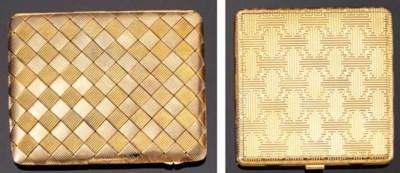 A GOLD CIGARETTE CASE AND A PO