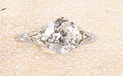 A BELLE EPOQUE DIAMOND SINGLE STONE RING