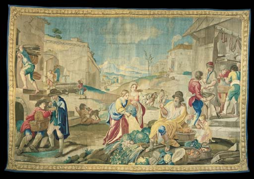 AN ITALIAN PASTORAL TAPESTRY